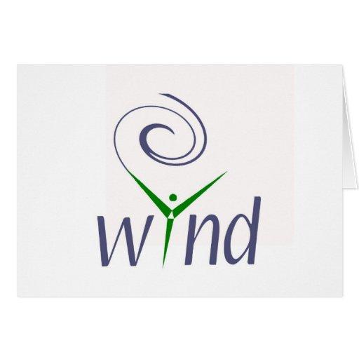 Energía eólica tarjeta de felicitación
