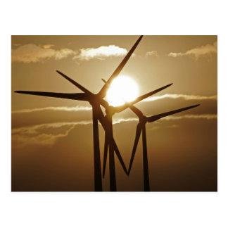 Energía eólica tarjeta postal