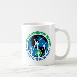 Energía eólica taza de café