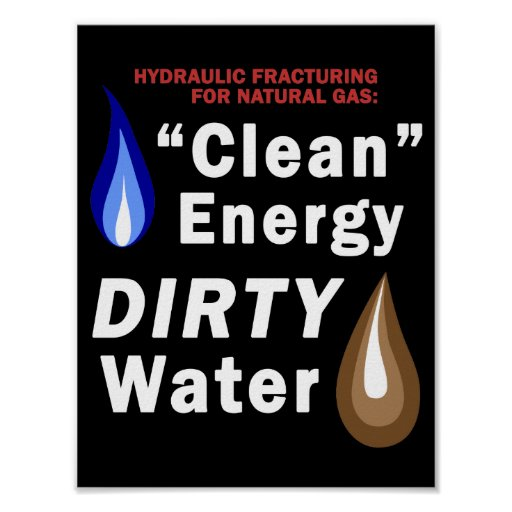 """Energía limpia"", agua SUCIA - poster"