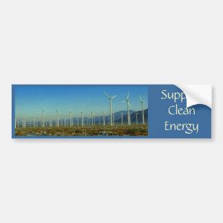 Energía limpia de la ayuda pegatina de parachoque
