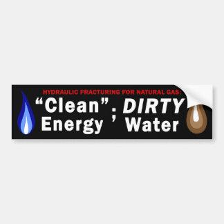 Energía limpia; Pegatina para el parachoques sucia Pegatina De Parachoque