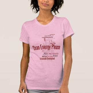 Energía limpia por favor camisetas