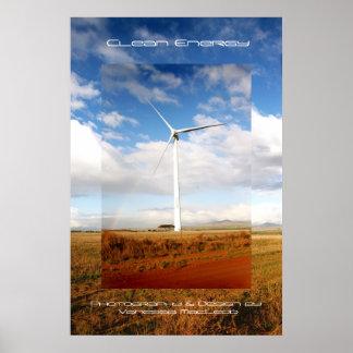 Energía limpia póster