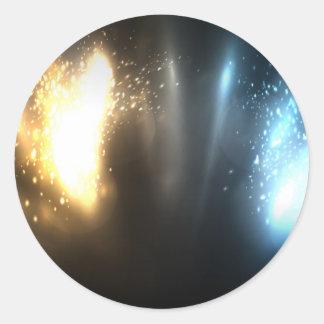 Energía oscura superior pegatina redonda