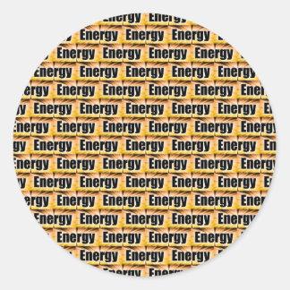 Energía Etiqueta Redonda