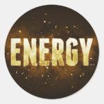 Energía Pegatina Redonda