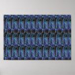 Energía positiva azul marino de piedra CRISTALINA  Impresiones