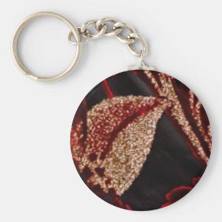 Energía positiva - decoraciones de la hoja de oro llavero redondo tipo pin