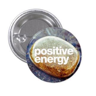 Energía positiva pin redondo de 1 pulgada