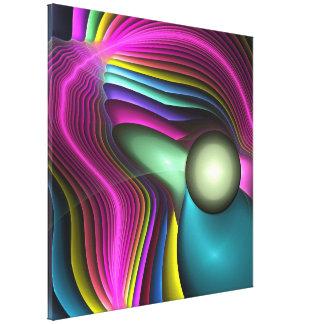 Energía positiva, wallart abstracto del fractal lona estirada galerias