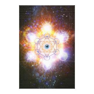 Energía protectora de Merkaba- del universo Impresion De Lienzo