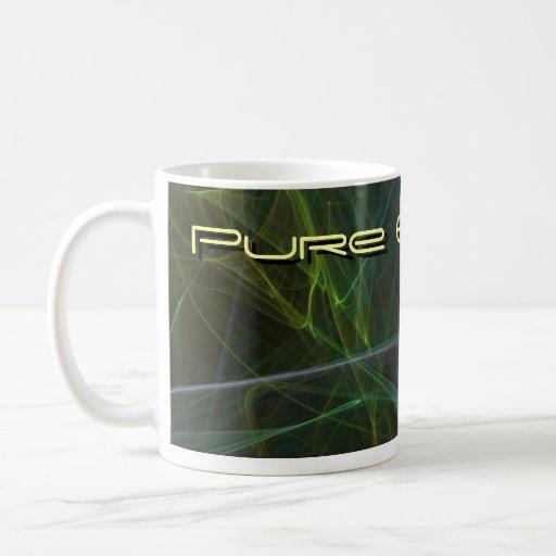 Energía pura taza de café