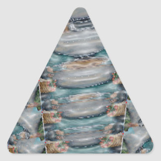 Energía rara triangular calmante de la perla pegatina triangular