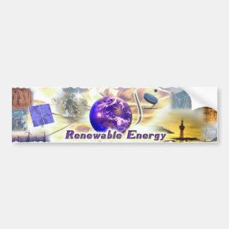 Energía renovable pegatina para auto