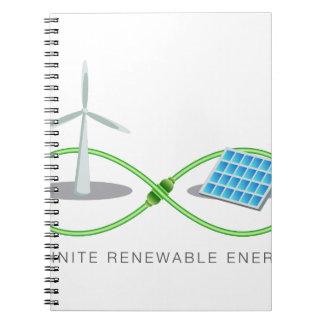Energía renovable infinita libreta espiral