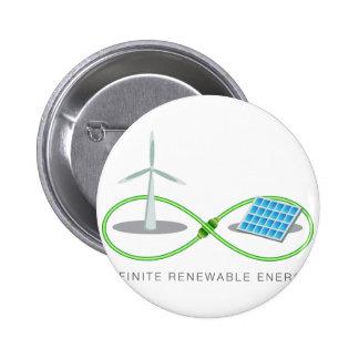Energía renovable infinita pin redondo de 2 pulgadas