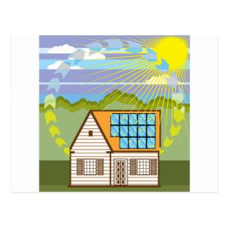Energía renovable solar Eco eficiente Tarjetas Postales
