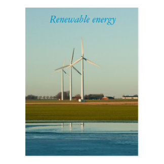 Energía renovable tarjetas postales