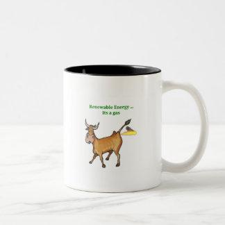 Energía renovable taza de café