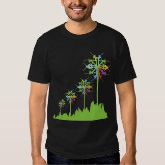 Energía retra del verde del molino de viento de la camisas
