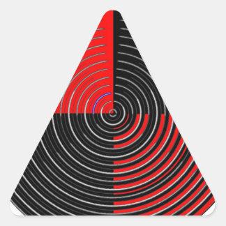 Energía roja Chakra - rayas negras de la plata n Pegatina Trianguladas Personalizadas