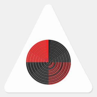 Energía roja Chakra - rayas negras de la plata n Colcomanias De Triangulo