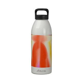 Energía roja de la vela botellas de agua reutilizables
