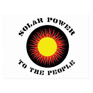 Energía solar a la gente tarjeta postal