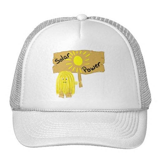 Energía solar amarilla gorro de camionero