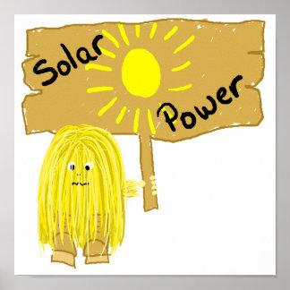 Energía solar amarilla posters