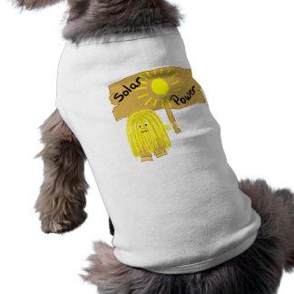 Energía solar amarilla playera sin mangas para perro