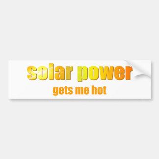 ¡Energía solar caliente! Bumpersticker Pegatina Para Auto