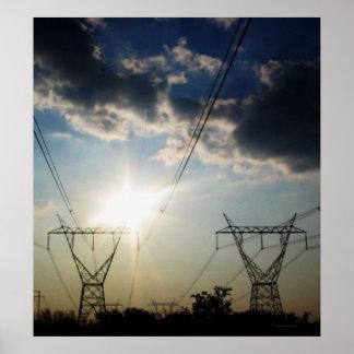 """""""Energía solar. Corriente eléctrica. """" Póster"""