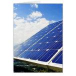 Energía solar de la energía verde felicitacion