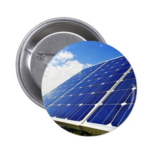 Energía solar de la energía verde pin