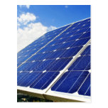 Energía solar de la energía verde tarjeta postal