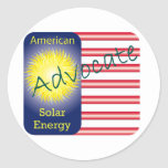 Energía solar del americano del abogado de T44a Pegatinas Redondas