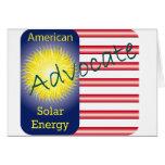 Energía solar del americano del abogado de T44a Tarjeta