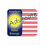 Energía solar del americano del abogado de T44a Tarjeta Postal