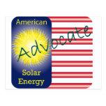 Energía solar del americano del abogado de T44a Postal