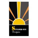 Energía solar/del sol/fuentes alternativas del pod tarjeta de visita