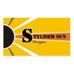 Energía solar/del sol/fuentes alternativas del pod plantilla de tarjeta de negocio