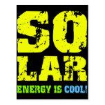 Energía solar fresca postal