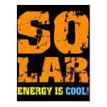 Energía solar fresca postales