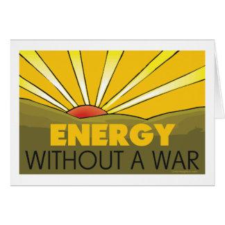 Energía solar, guerra tarjeta de felicitación