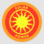 ENERGÍA SOLAR PEGATINA REDONDA