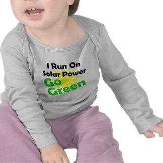 energía solar camiseta