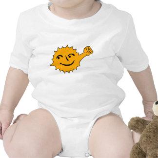 Energía solar trajes de bebé