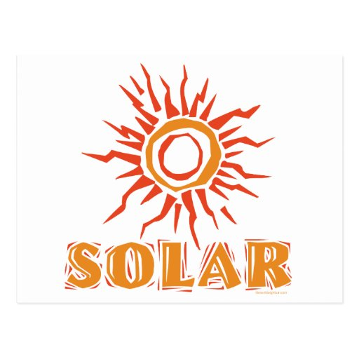 Energía solar postal